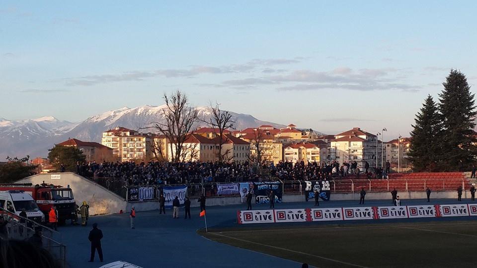 Fans away at Skënderbeu